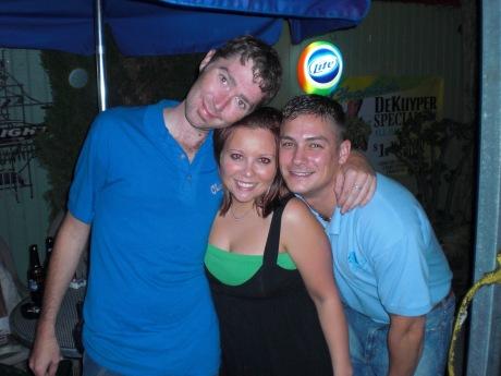DJ Jon, TJ Marci, and Matt, the bartender I can find even at straight bars