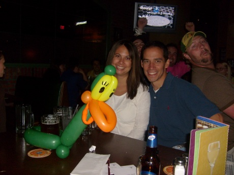 How did that duck get that beer?  Who was serving him that night, I don't even think he looks 21?!