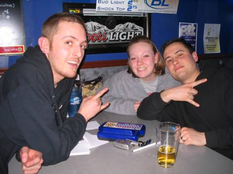 The #1 B*tches (it's ok guys, you can say Bitches at trivia) won round one because of a HALF point! it was so close, but their incredible answer incorporating the SPORK (totally from left field) pushed them just the tiniest bit ahead.