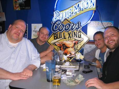 Congrats to Wings and Beers for winning first place in round three and overall! I just found out that they're teachers, so that would explain their knack for trivia (they're also avid fans of Lifetime TV and Little House on the Prairie ;). Look at that SWEET coors sign they won for round 3! If that isn't inscentive to win trivia, I don't know what is!
